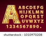 font lamp symbol  gold letter... | Shutterstock .eps vector #1010970208