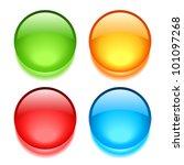 vector blank web buttons set | Shutterstock .eps vector #101097268