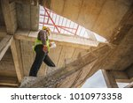 young professional engineer... | Shutterstock . vector #1010973358