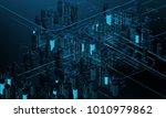 futuristic skyscrapers in the... | Shutterstock . vector #1010979862