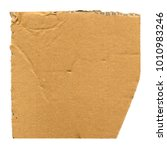 brown corrugated cardboard... | Shutterstock . vector #1010983246