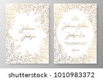gold invitation with frame of... | Shutterstock .eps vector #1010983372