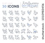 set of vector line icons  sign...   Shutterstock .eps vector #1010983456