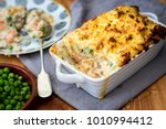 luxurious fish pie | Shutterstock . vector #1010994412