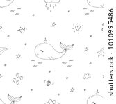 cute background with cartoon... | Shutterstock .eps vector #1010995486