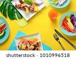 summer simple recipe for... | Shutterstock . vector #1010996518