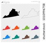 virginia high detailed map.... | Shutterstock .eps vector #1010996758