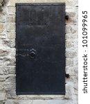 Black Old Metal Door Texture...