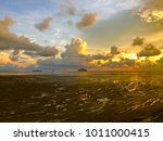ambient of sunset at estuary... | Shutterstock . vector #1011000415