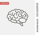 brain icon in line style. side... | Shutterstock .eps vector #1011020935