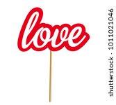 valentine's day photobooth prop ... | Shutterstock .eps vector #1011021046