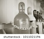 pressure cylinder lined keep in ... | Shutterstock . vector #1011021196
