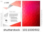 light red vector  cover for...