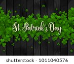 saint patrick's day border with ...   Shutterstock .eps vector #1011040576