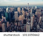 new york city seen from the... | Shutterstock . vector #1011050662