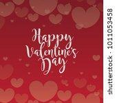 happy valentine's day... | Shutterstock .eps vector #1011053458