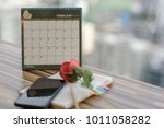 notebook with pencil diary... | Shutterstock . vector #1011058282