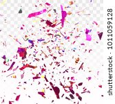 abstract colorful conffeti...   Shutterstock .eps vector #1011059128
