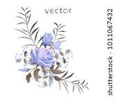 vector illustration of branch... | Shutterstock .eps vector #1011067432
