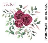 vector illustration of branch... | Shutterstock .eps vector #1011075322