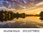 Loire River At Sunset  Colorfu...