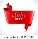speech bubble from ribbon... | Shutterstock .eps vector #101107708