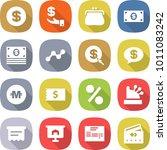 flat vector icon set   dollar... | Shutterstock .eps vector #1011083242
