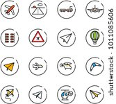 line vector icon set   plane... | Shutterstock .eps vector #1011085606