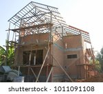 a new house brick and mortar... | Shutterstock . vector #1011091108