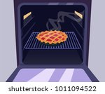 pie in the oven | Shutterstock .eps vector #1011094522