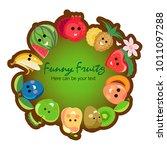 fruit poster of vector fruits...   Shutterstock .eps vector #1011097288