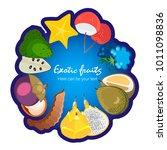 fruit poster of vector fruits... | Shutterstock .eps vector #1011098836