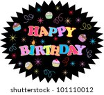 happy birthday | Shutterstock .eps vector #101110012