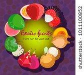 fruit poster of vector fruits...   Shutterstock .eps vector #1011100852