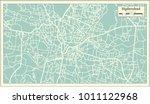 hyderabad india city map in... | Shutterstock .eps vector #1011122968