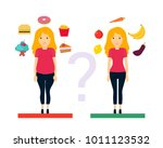 thick and thin girl. the... | Shutterstock .eps vector #1011123532
