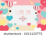 happy valentines day greeting...   Shutterstock .eps vector #1011123772