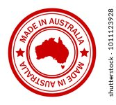 red stamp with map of australia | Shutterstock .eps vector #1011123928