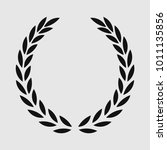 laurel wreath  sports emblem ... | Shutterstock . vector #1011135856