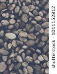 pebble stones with retro filter   Shutterstock . vector #1011152812