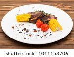 grilled porky neck stuffed with ...   Shutterstock . vector #1011153706