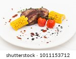 grilled porky neck stuffed with ...   Shutterstock . vector #1011153712