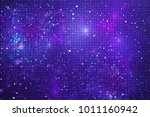 abstract glittering geometric... | Shutterstock . vector #1011160942