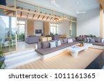luxury interior design in... | Shutterstock . vector #1011161365