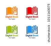 digital book logo template | Shutterstock .eps vector #1011163075