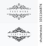 elegant floral ornaments vector | Shutterstock .eps vector #1011166876