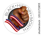 black history month emblem with ... | Shutterstock .eps vector #1011172855