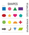 shapes worksheet. learning... | Shutterstock .eps vector #1011174916