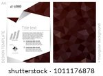 dark red vector  cover for...
