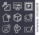 business outline vector icon...   Shutterstock .eps vector #1011182158